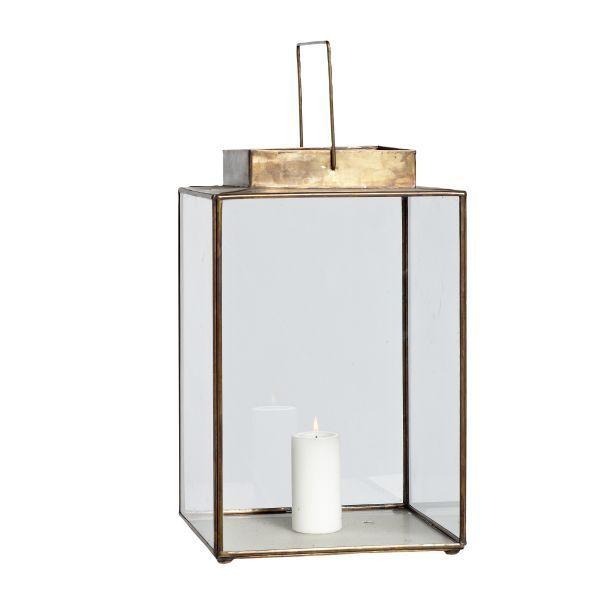 laterne messing glas von h bsch interior la maison. Black Bedroom Furniture Sets. Home Design Ideas