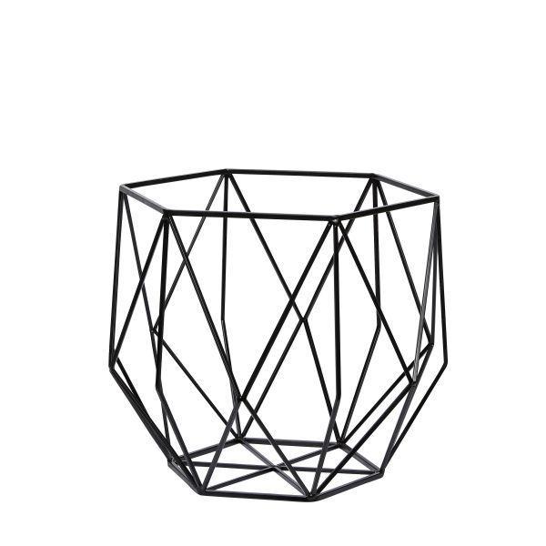 schwarzer metallkorb von h bsch interior la maison. Black Bedroom Furniture Sets. Home Design Ideas