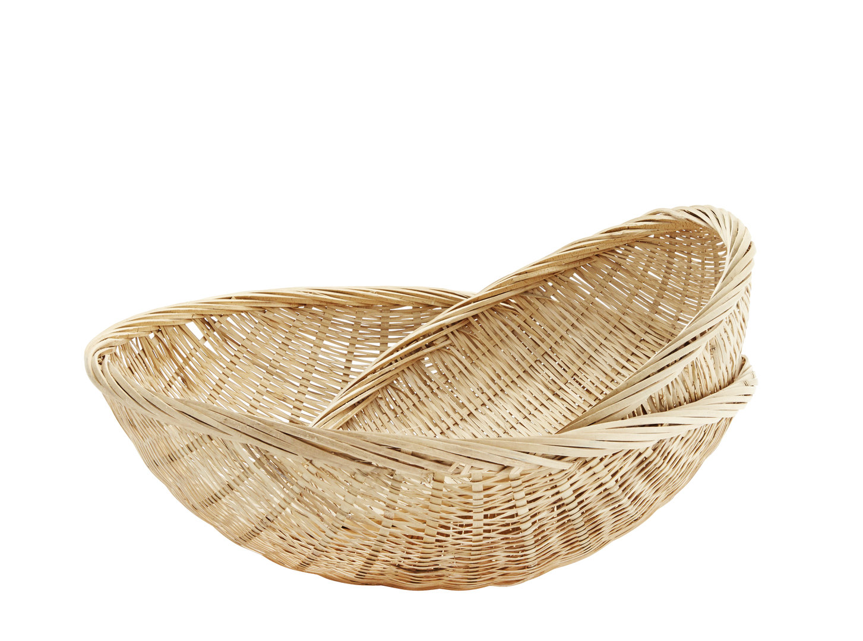 runder gro er bambus korb brot zeitschriften kissen. Black Bedroom Furniture Sets. Home Design Ideas